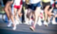 Os participantes de maratona