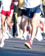 Los participantes del maratón