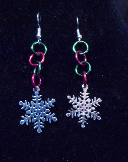 Snowflake Earrings multicolor