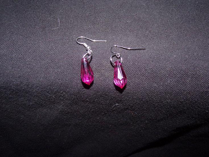 Light purple drop earrings