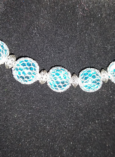 Blue Net Bracelet