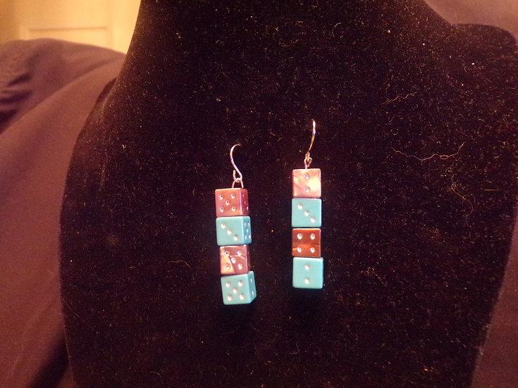 Dice bracelet and earrings
