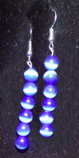 Blue Bead Dangle earrings
