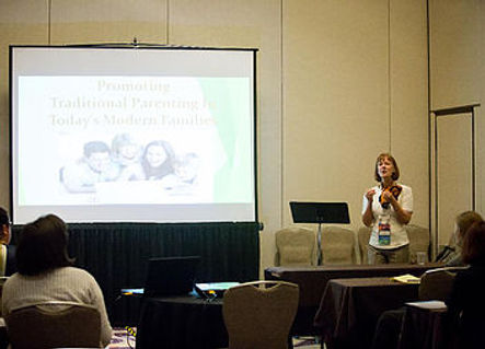 Margaret Stefanowicz speaks at wokshops on traditional parenting with Take Charge Parenting.