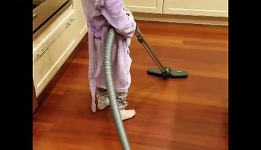 6 year old girl feels pride and purpose in helping with chores.