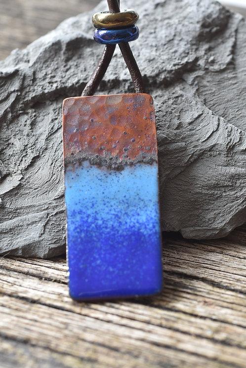 Boho beach enamel pendant