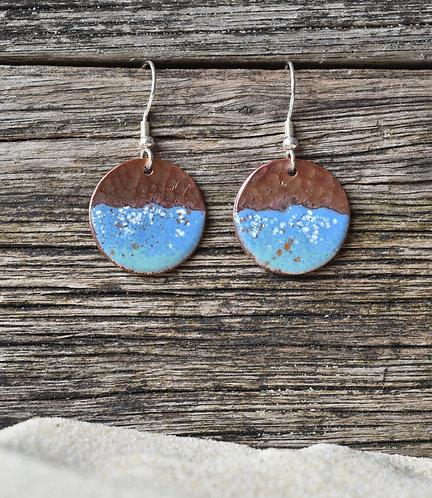 Seaspray copper earrings