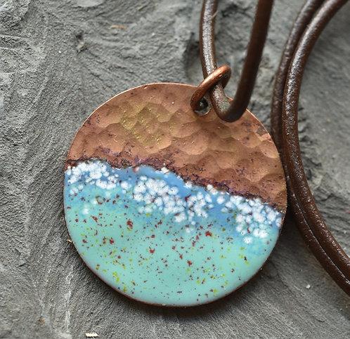 Seaspray copper pendant