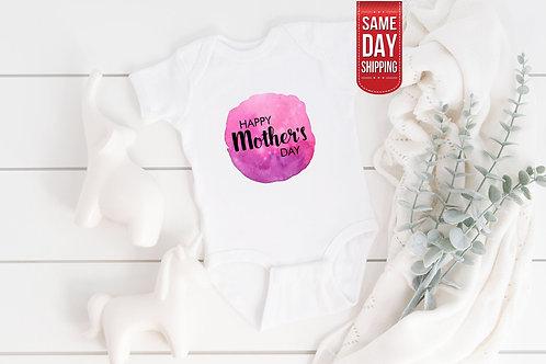 Happy Mother's Day Personalised Onesie, Cute Bodysuit, Baby Bodysuit Onesie, Cut
