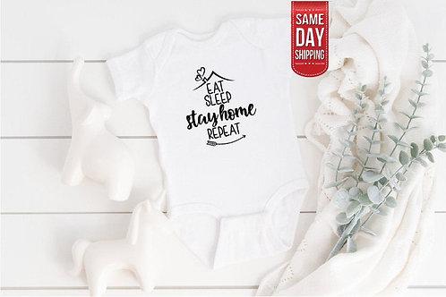 Covid Quarantine Baby Onesie, Personalized Baby Bodysuit Onesie, Gift Custom Bab