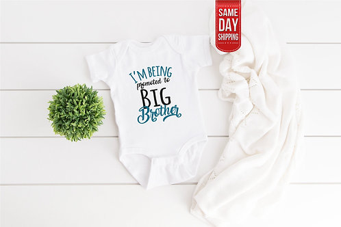 Big Brother announcement funny new baby gift, baby shower, birth gift personaliz
