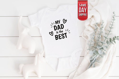 Daddy is the Best Bodysuit, Super Dad Babysuit, Cute Onesie, Onesie Gift Baby, C