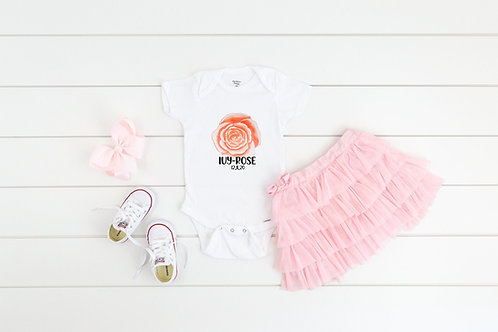 PERSONALISED name bodysuit baby gift, baby shower, happy baby onesie quote, pers