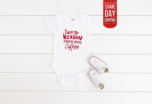 Funny Mummy Needs Coffee Pregnancy announcement baby Twins baby announcement, Qu