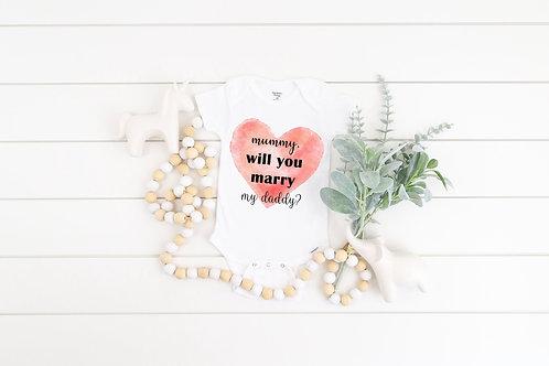 Will You Marry My Daddy Onesie Bodysuit, Proposal Onesie - Cute Engagement Shirt