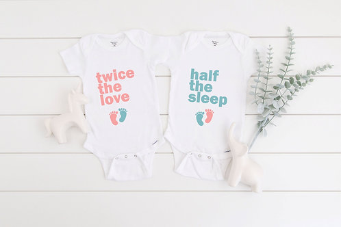 Funny Pregnancy announcement Personalised name baby Twins baby announcement, twi