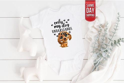 PERSONALISED Only My Dog bodysuit, baby gift, baby shower, baby body suit, perso