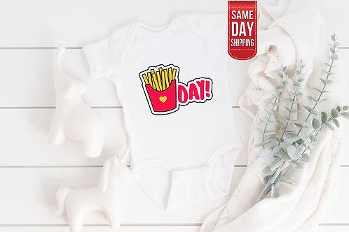 French Fries Baby Bodysuit, Cute Newborn gift Babysuit, Custom Onesie, Onesie Gi