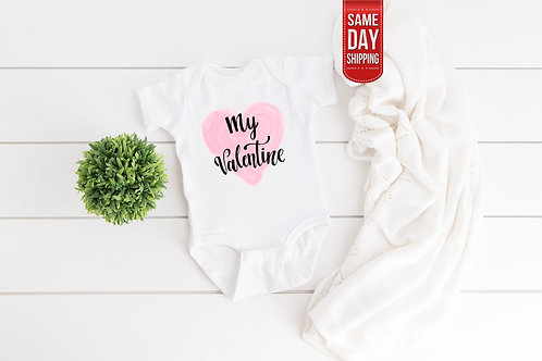 Valentine onesie, Quarantine baby gift, Baby bodysuit, Pandemic baby, New baby g