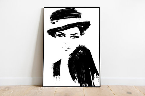 Designer Art Poster | Print Poster Coco Wall-art Gift Personalised Room | A4 | A