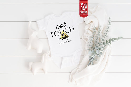 Can't Touch This Covid Onesie baby gift, baby shower, baby onesie quote, persona