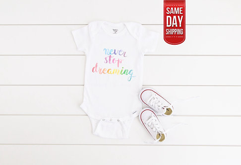 Baby Shower Rainbow Onesie baby gift, baby shower, baby onesie quote, personalis