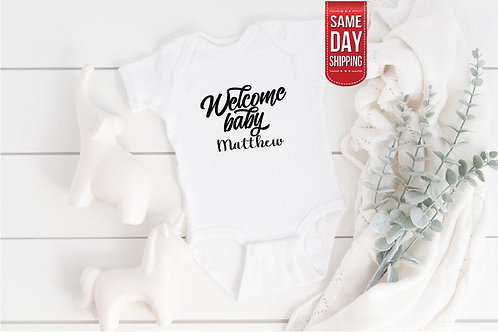 PERSONALISED Welcome Baby