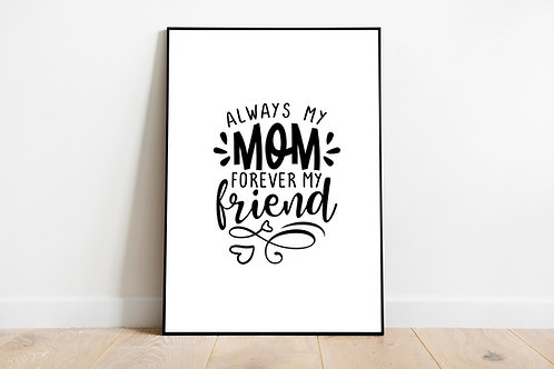 Mummy Quote Poster   Print Poster Wall-art Gift Personalised Room   A4   A3   A2