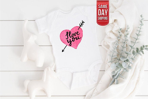 I Love You, Perfect Baby Gift, Cute Onesie, Gift Custom Baby, Love You Bud, Pers