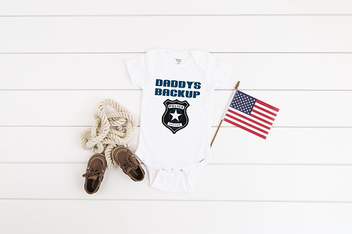 Baby Police Bodysuit   Pregnancy announcement Personalised name baby grow, body