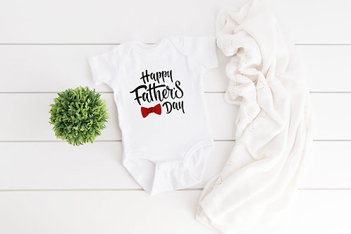 Happy Father's Day bodysuit baby gift, Daddy baby onesie quote, personalised bab