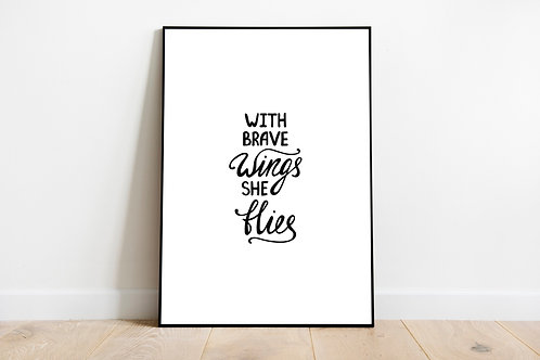 Motivational Quote Poster   Print Poster Wall-art Gift Personalised Room   A4  