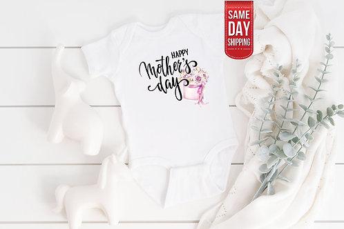 Happy Mothers Day Gift , Funny Bodysuit Personalised, Baby Bodysuit Onesie, Cute