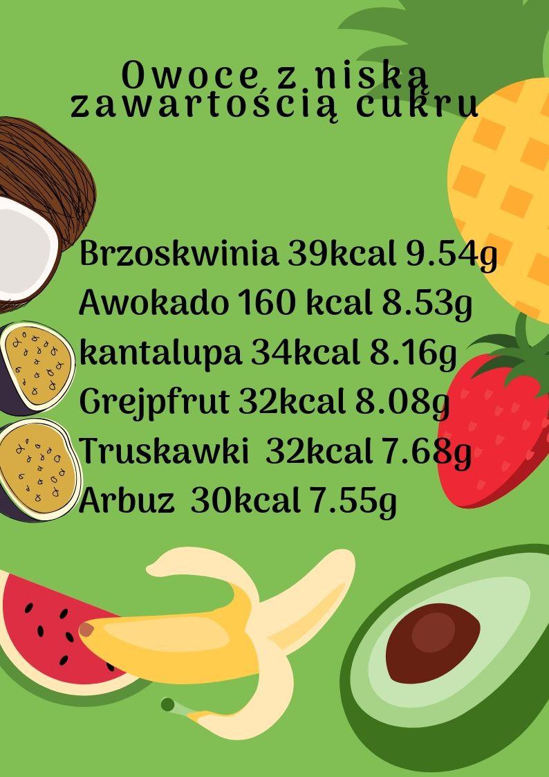 Owoce z niską zawartością cukru