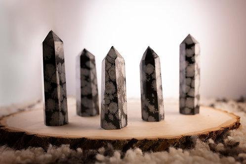 Snowflake Obsidian Point