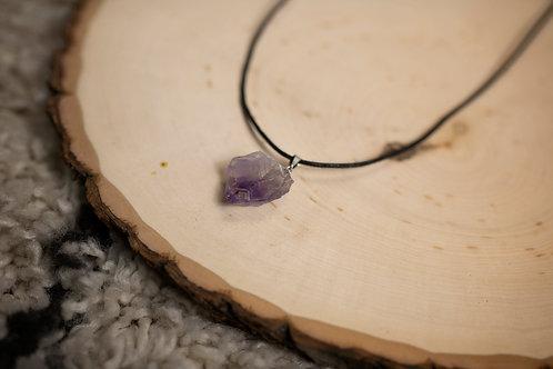 Rough Amethyst Necklace