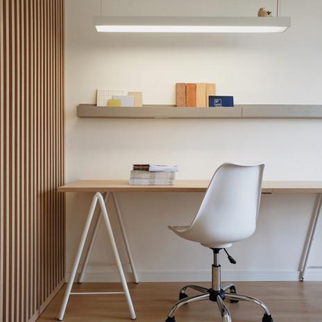 Escritório de arquitetura clean minimali