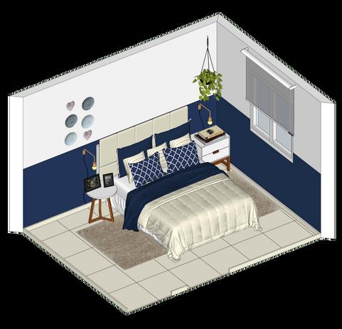 Projeto quarto casal barato