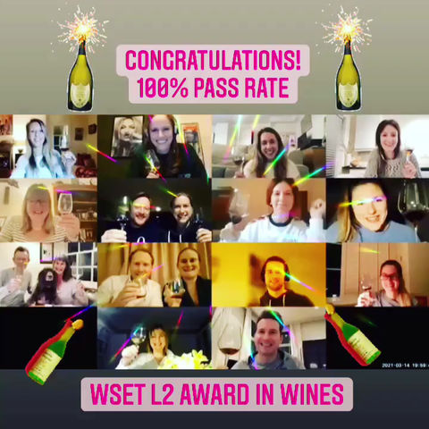 WSET L2 100% Pass Rate!