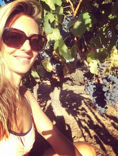 Lulu in the vine.JPG