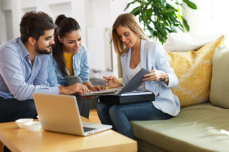 Real Estate agent offer home ownership a