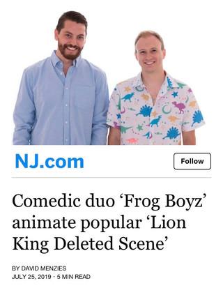 FROG BOYZ Featured on NJ.com