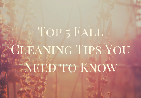 Top 5 Fall Cleaning Tips You Need to Know