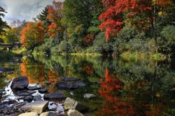 Autumn River Landscape by Carol R Montoya Fine Art Photography