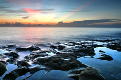 Tranquil Sunrise At Coral Cove Beach by Carol R Montoya Fine Art Photography