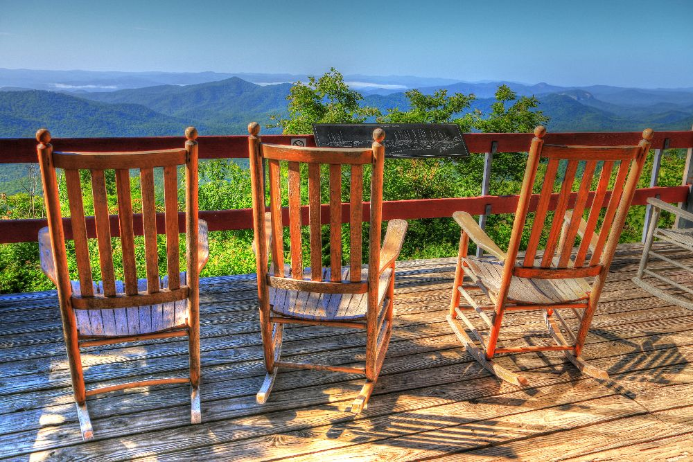 Pisgah Inn's Rocking View by Carol R Montoya Fine Art Photography