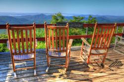 Pisgah Inn's Rocking View by Carol R Montoya Fine Art Photography