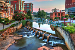 Downtown Greenville On The River by Carol R Montoya Fine Art Photography