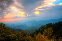 Sunset on the Blue Ridge Parkway by Carol R Montoya Fine Art Photography