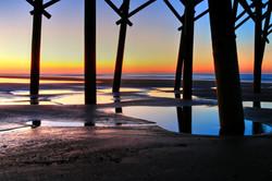 Sunrise Under Folly Pier by Carol R Montoya Fine Art Photography